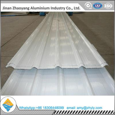 China Signal White PVDF Corrugated Aluminum Sheet supplier