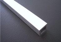 China Customized Length Milk Brushed Aluminum Pipe / Tube Rectangular For Decoration factory