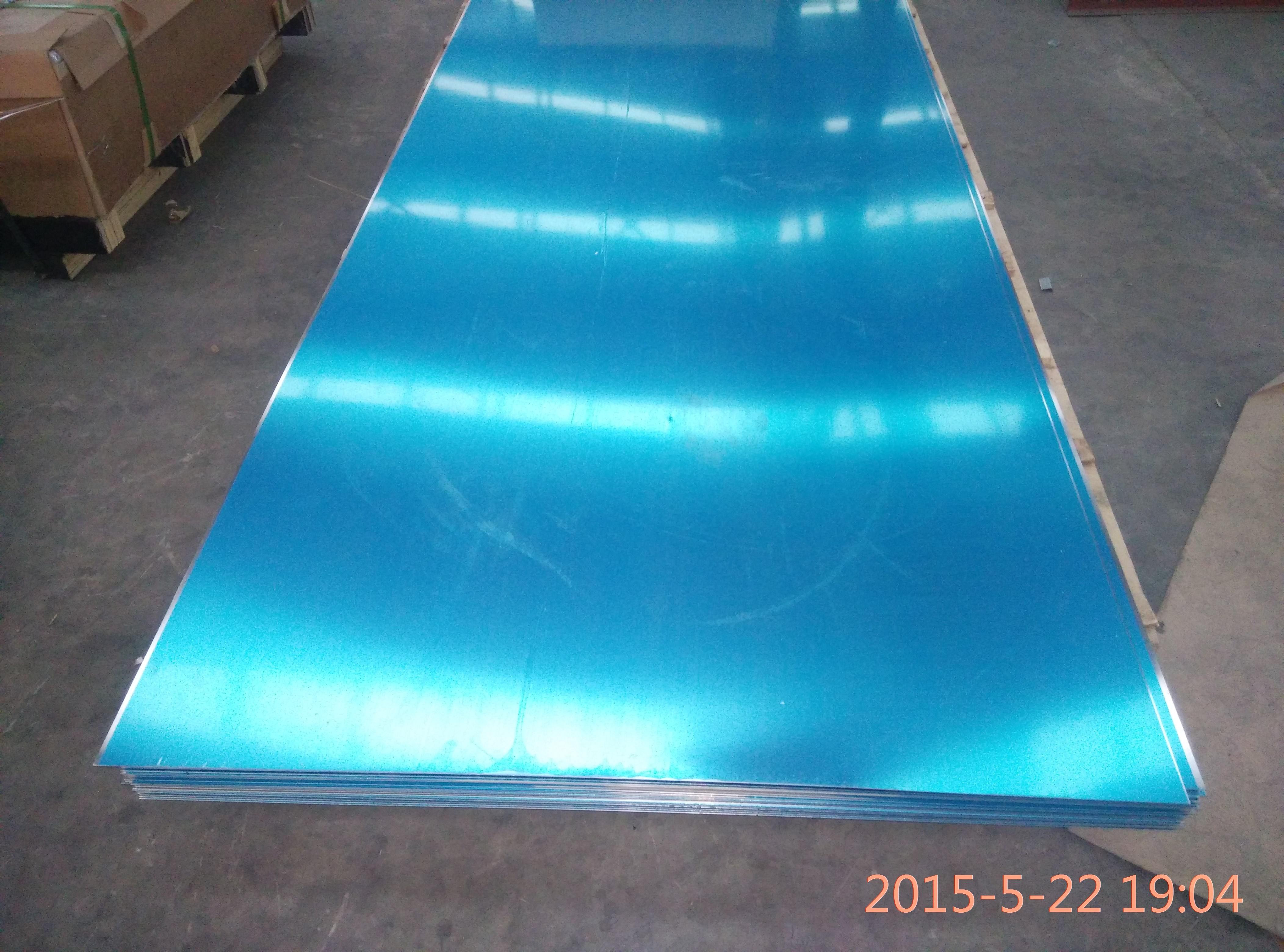 Coloured Food Grade Flat Aluminum Sheet Metal Thickness 0