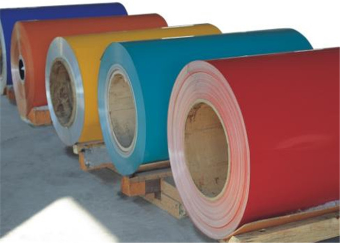 3004 3105 3003 Color Coated Aluminum Coil , Blue Aluminum Sheet ...