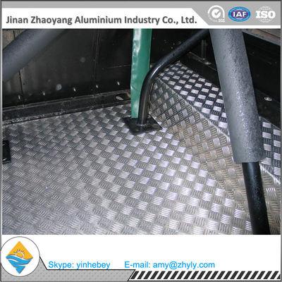 2.5mm Aluminium Alloy Sheet Aluminum Stair Checker Plate 5 Bars 3003 H14 / H24